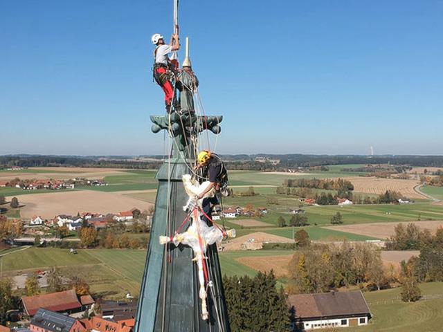 Höhenarbeit Kirchturm